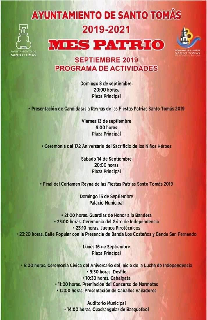 Programa de las Fiestas Patrias